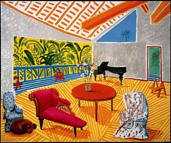 Interior with sun and dog 1988