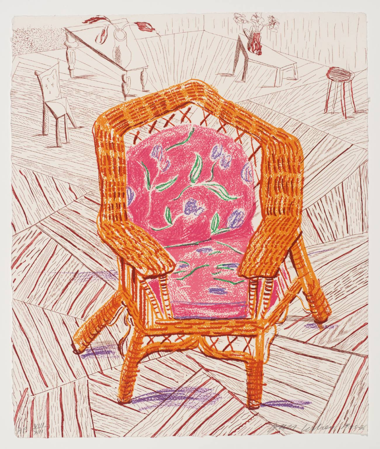 Number One Chair 1985-6 David Hockney born 1937 Presented by the artist 1993 http://www.tate.org.uk/art/work/P20126