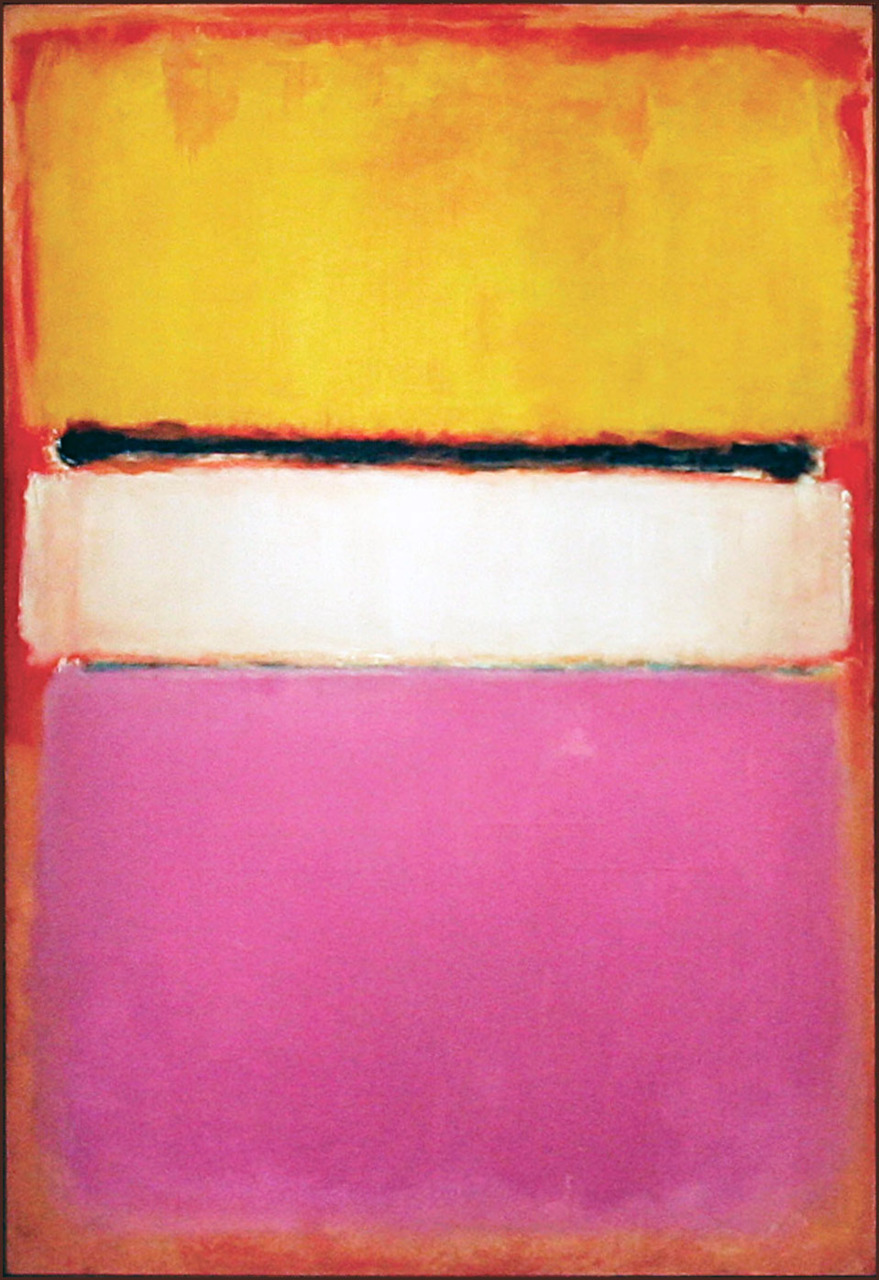 New York, UNITED STATES: A painting titled 'White Center (Yellow, Pink and Lavender on Rose)' by Mark Rothko is displayed at Sotheby's auction house in New York 14 May 2007. Records were shattered 15 May at Sotheby's 255 million USD auction of contemporary and postwar art, the biggest in history, which was led by the Rothko which sold for 73 million USD. AFP PHOTO/Timothy A. CLARY (Photo credit should read TIMOTHY A. CLARY/AFP/Getty Images)